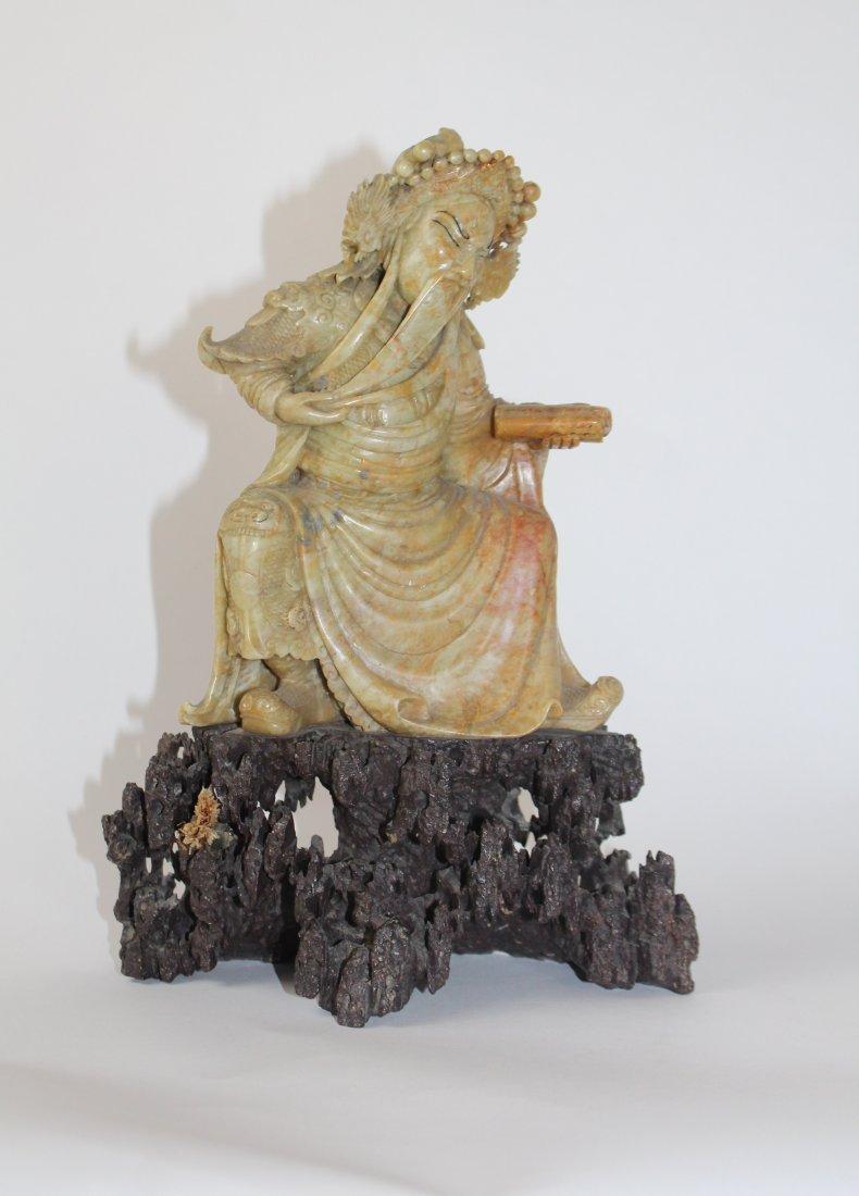 Chinese Carved Soapstone Deity
