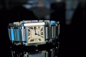 Mid Sized Cartier Tank S/s