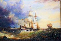 James Webb 19th Century Companion Oil Paintings