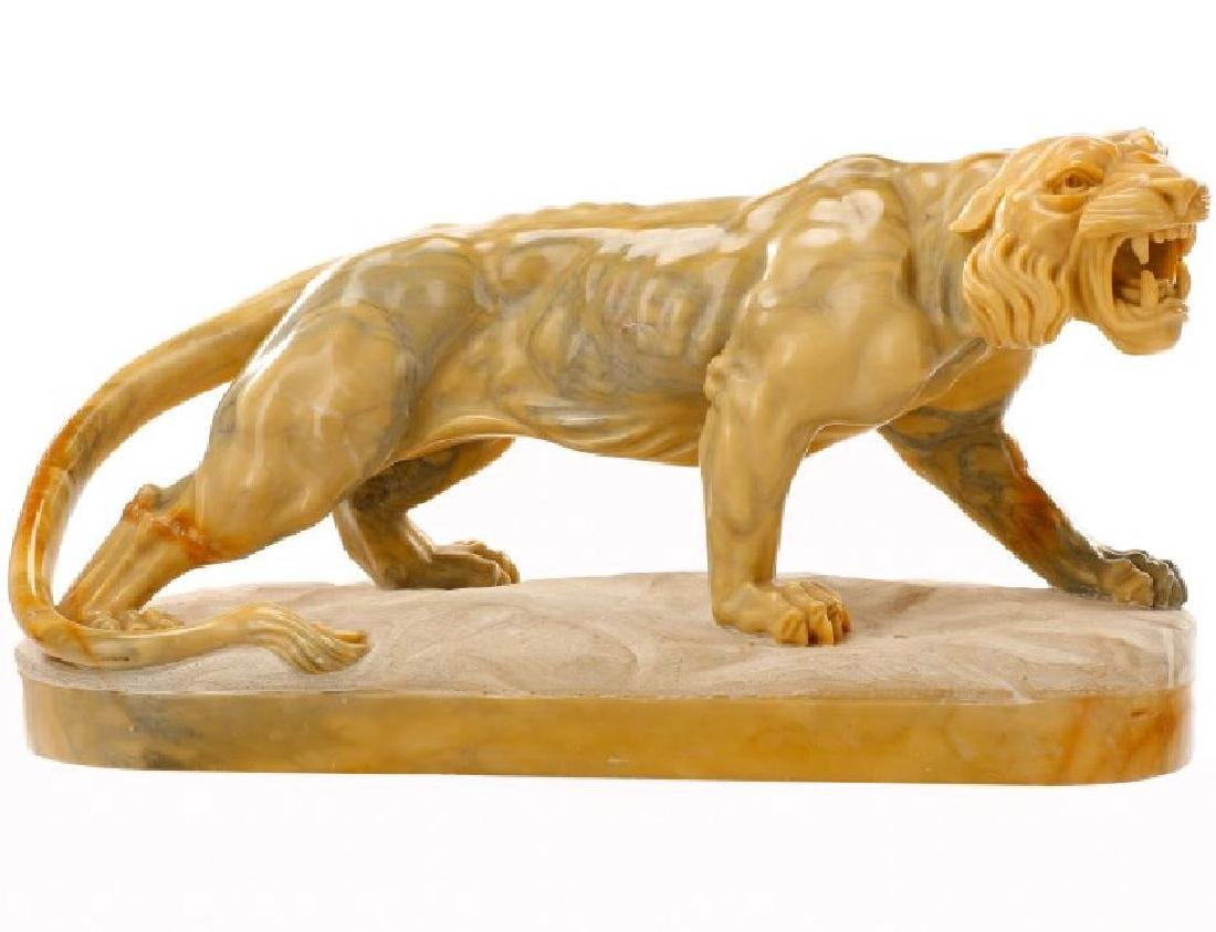 """20th Century Marble Tiger 32.5"""" Long"""