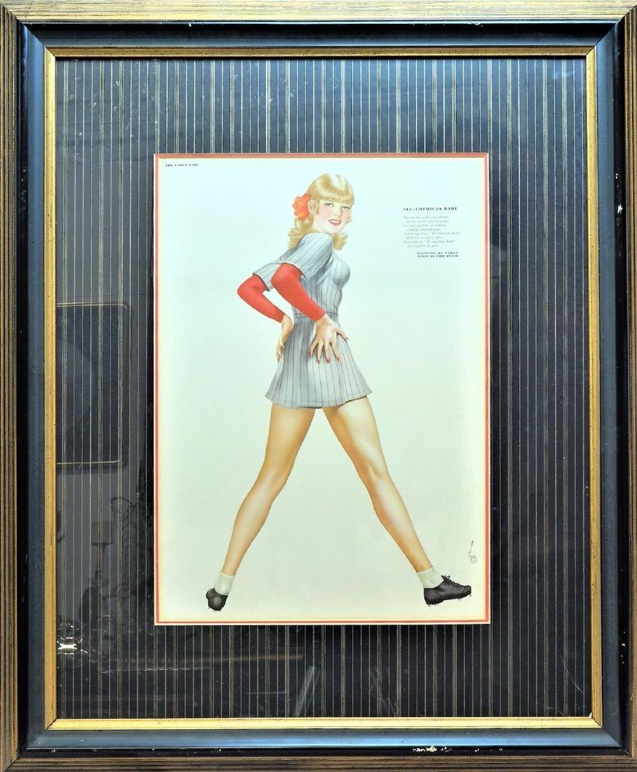 "Vargas Pin Up Print ""All-American Babe"""