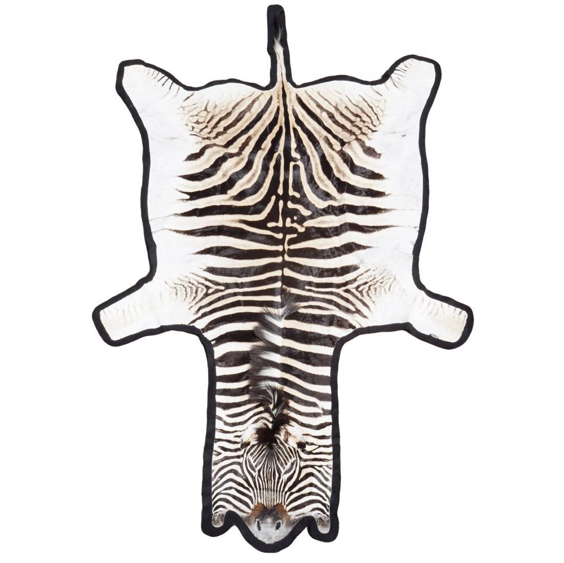 """Zebra Skin Rug 130"""" Head to Tail"""