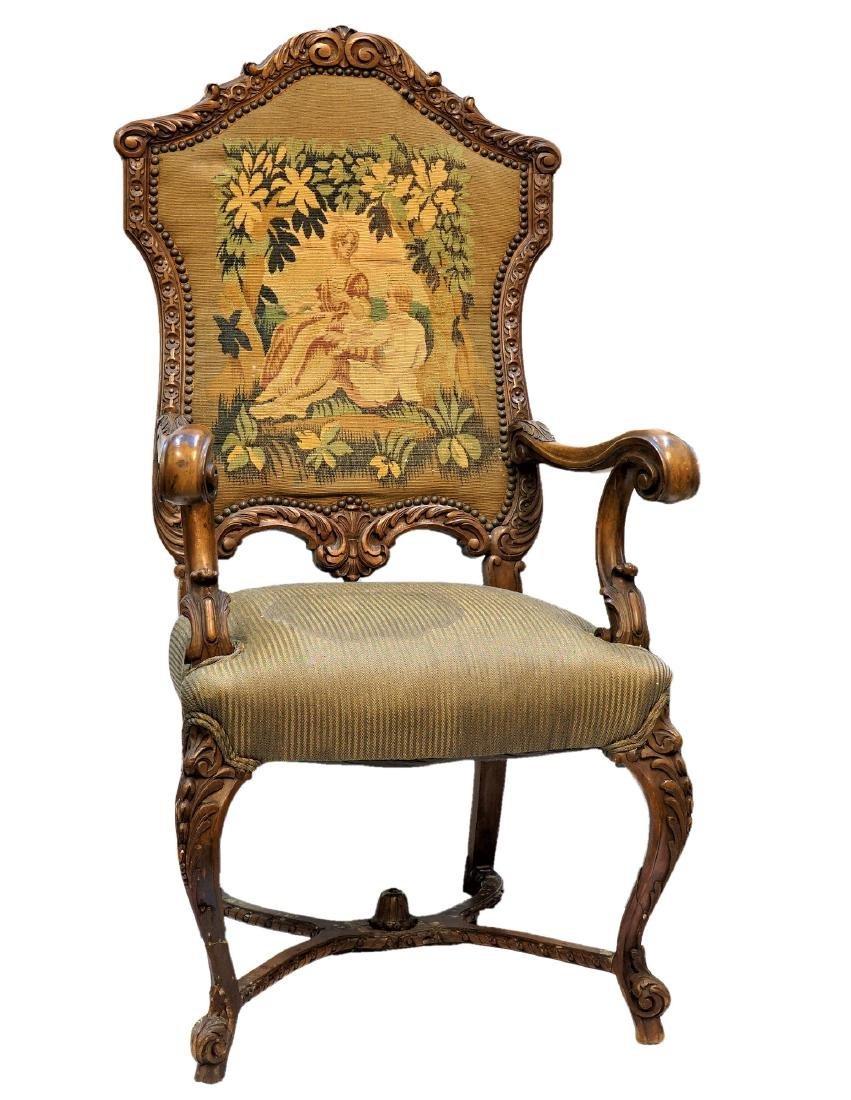 19th Century Walnut Needlepoint Chair
