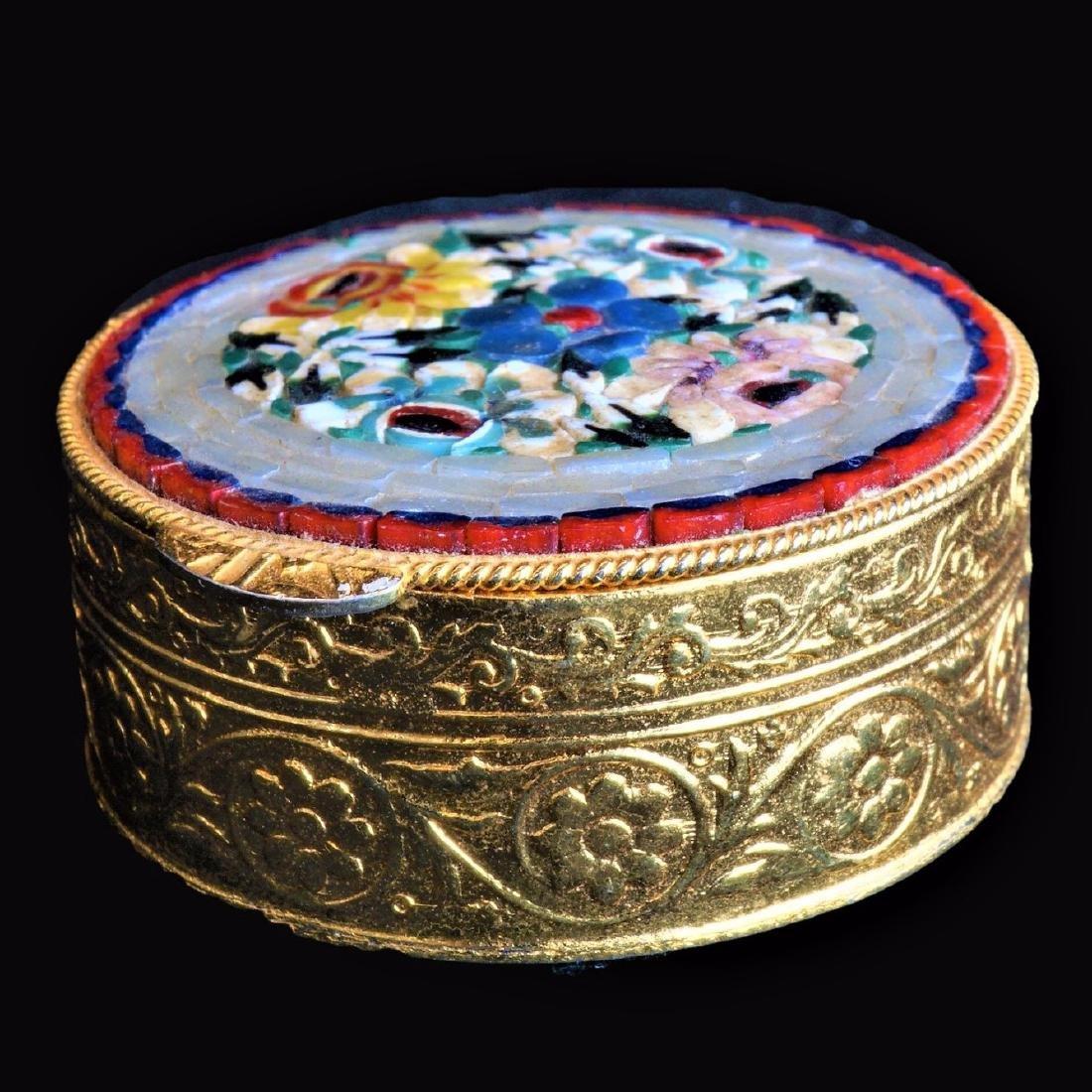 Italian Mosaic Pill Box