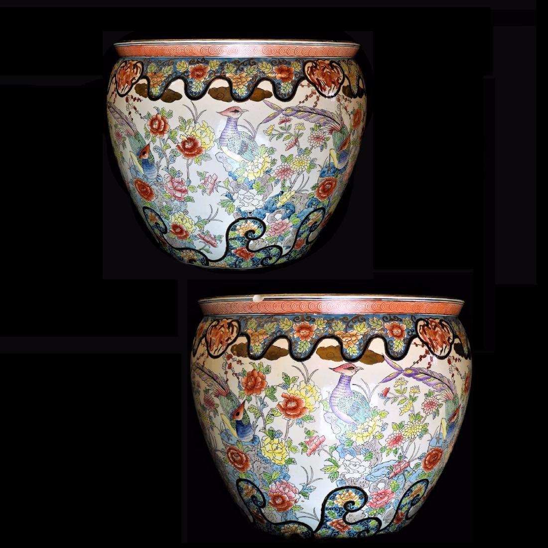 Pair of Chinese Fish Bowls