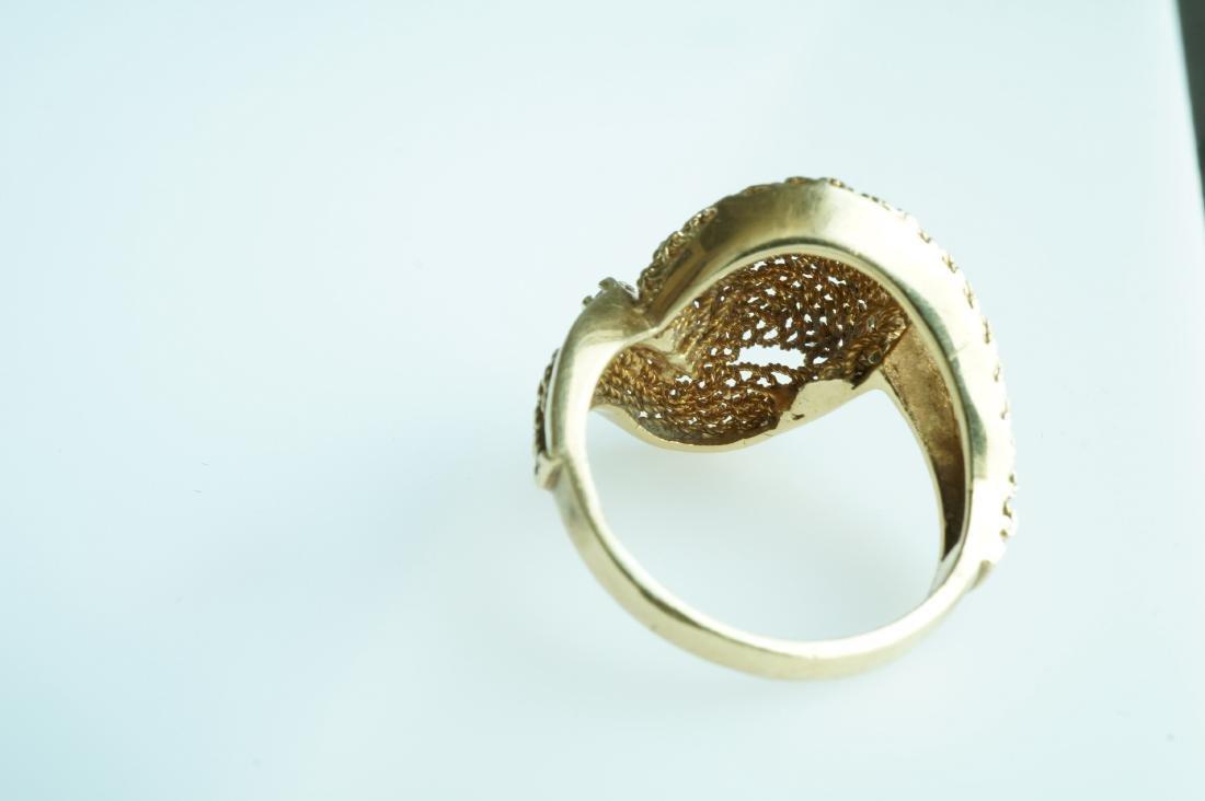 Ladies 18k Yellow Gold, Diamond, & Ruby Ring - 3