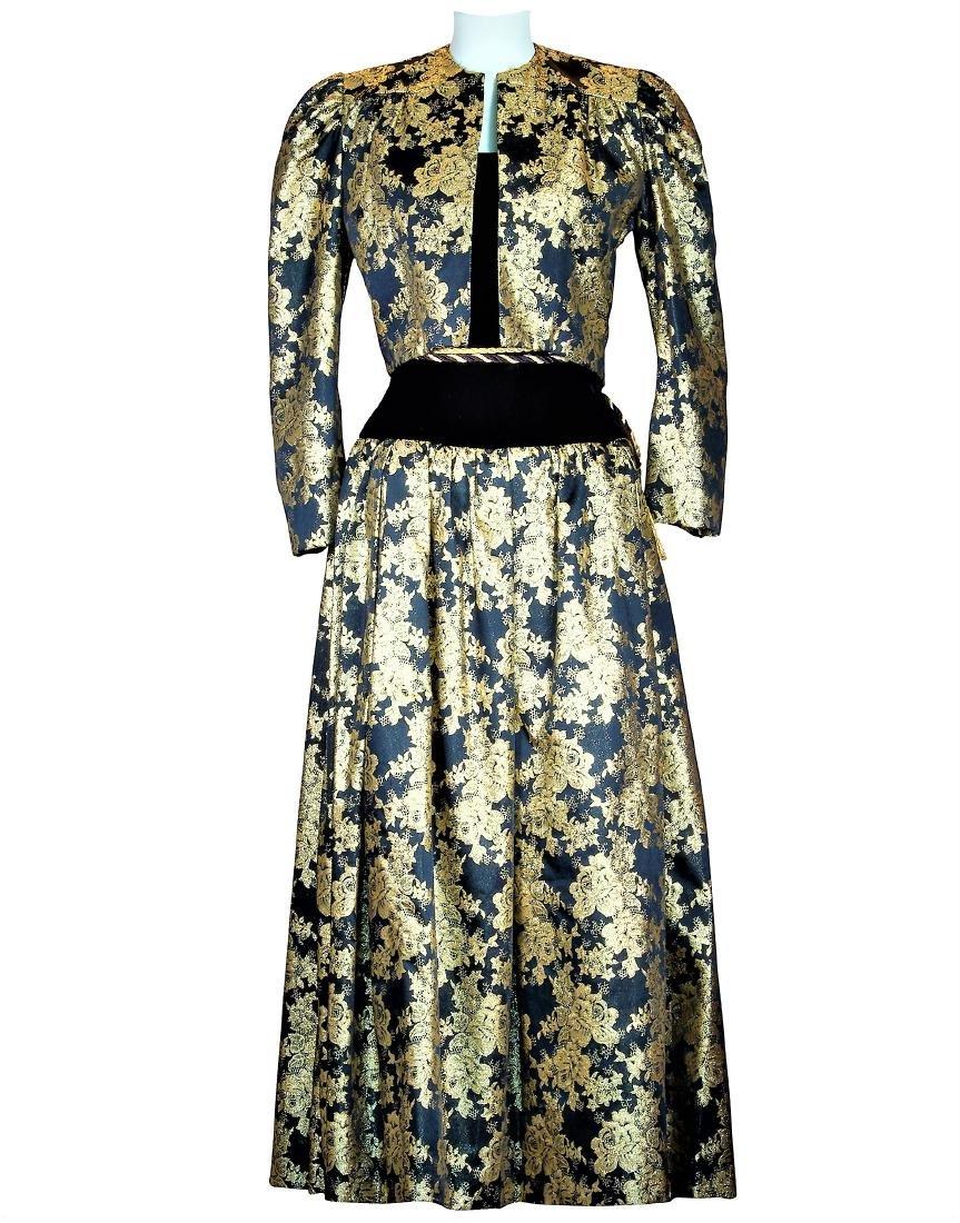 Original Bob Mackie Haute' Couture Silk Velvet Ensemble