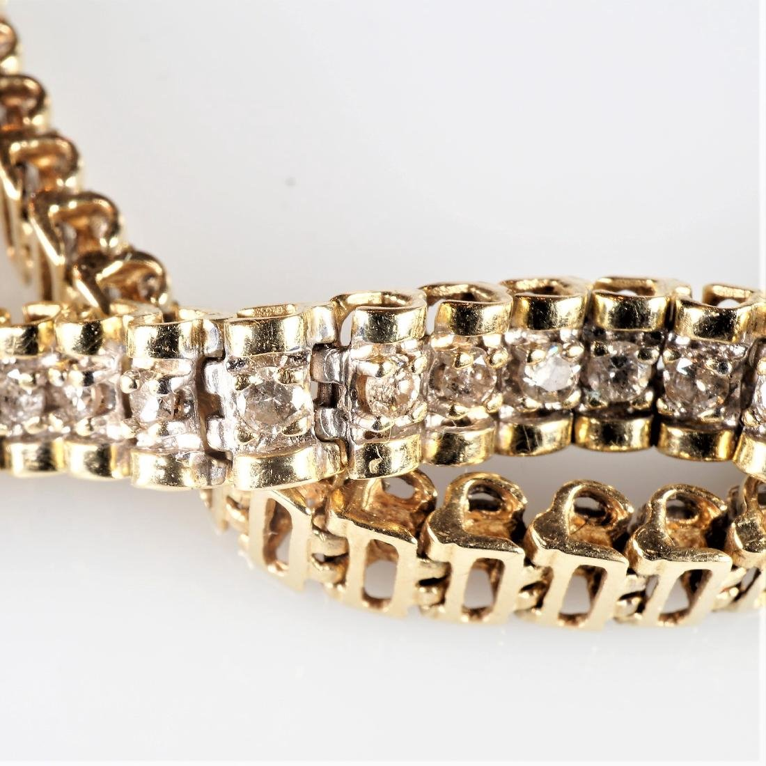 3 Carat 10k YG Diamond Tennis Bracelet