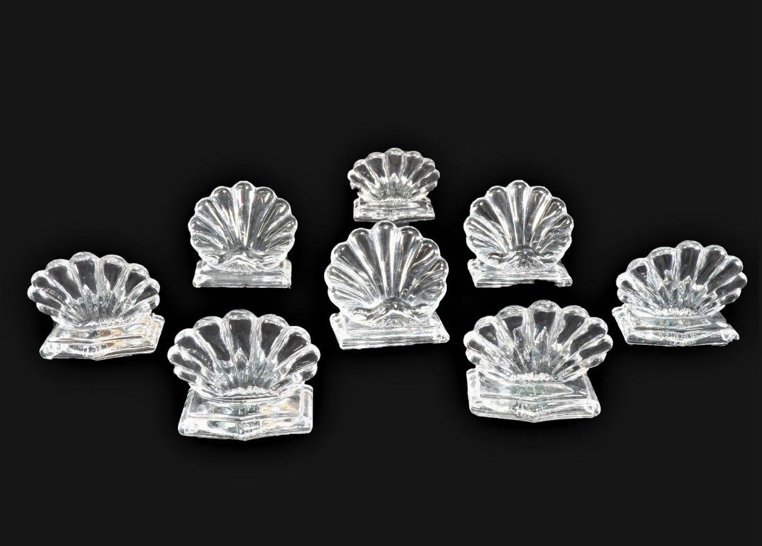 8 Baccarat Crystal Place Card Holders