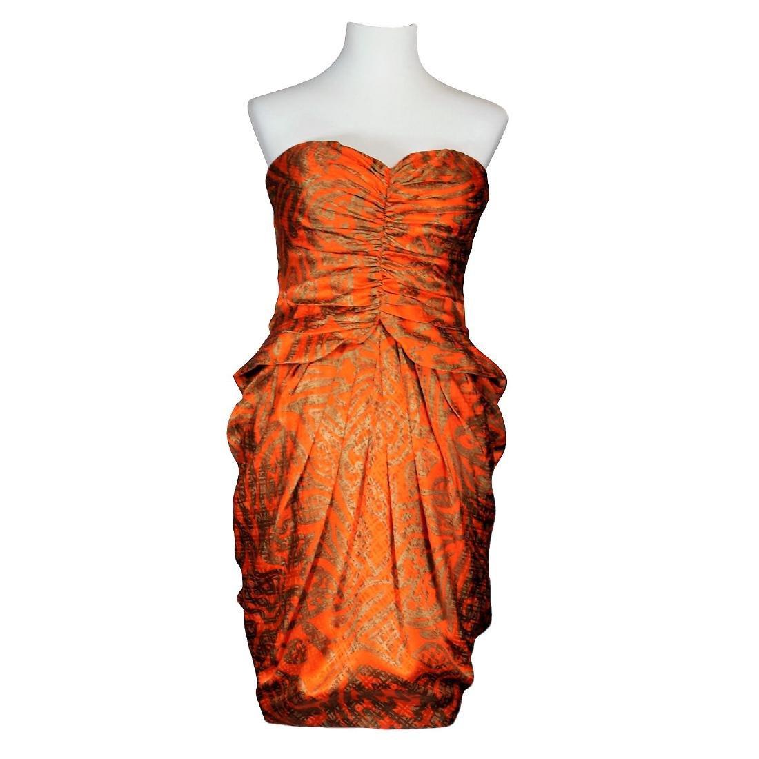 Anne Klein Silk Strapless Dress