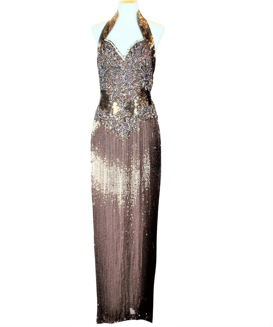 Vintage 1990s Donna Karan Silk Empire Dress