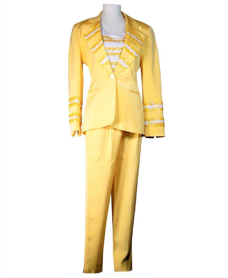 Louis Feraud Canary 3 Piece Pants Suit