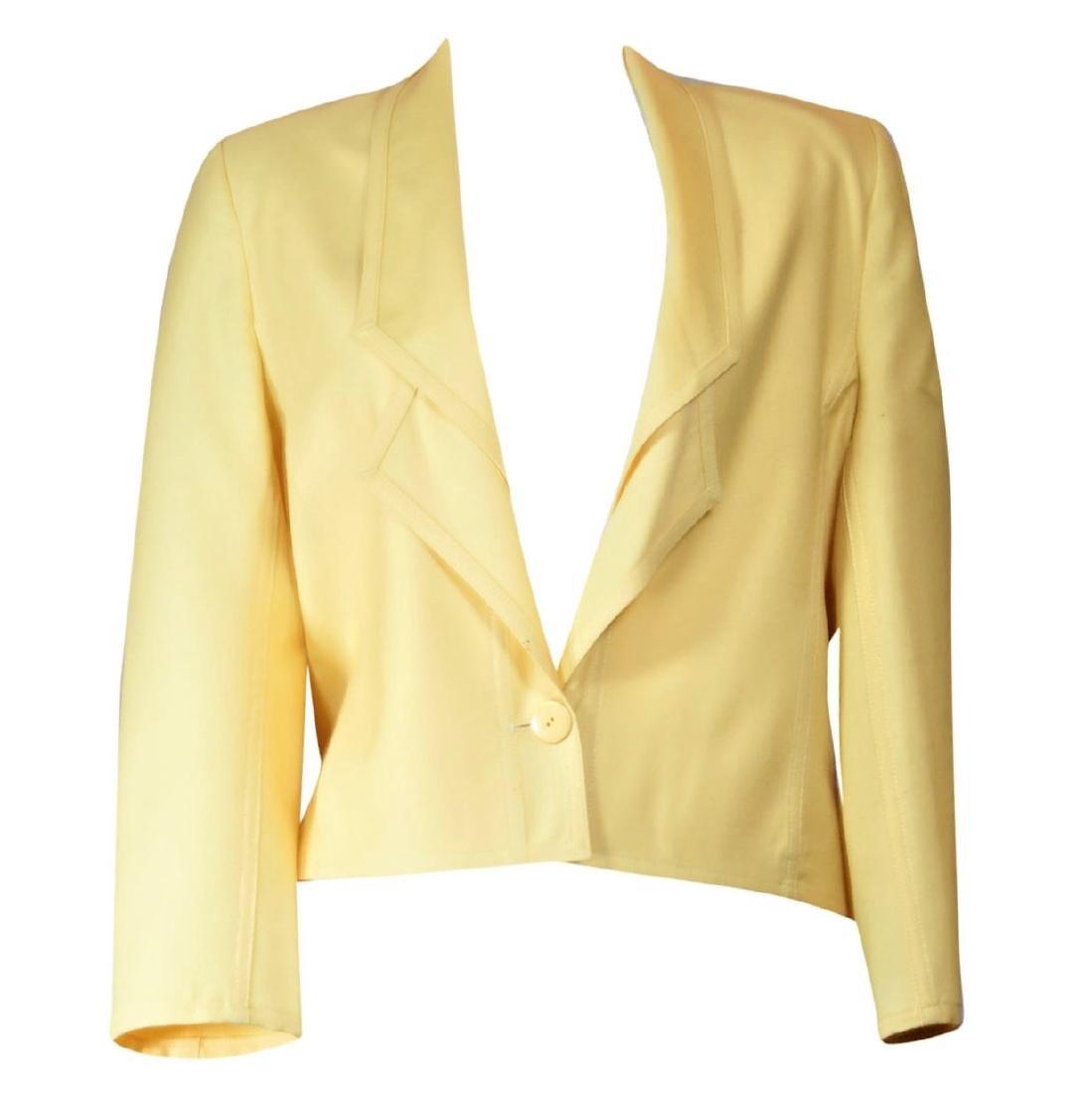 Louis Feraud Yellow Eton Jacket