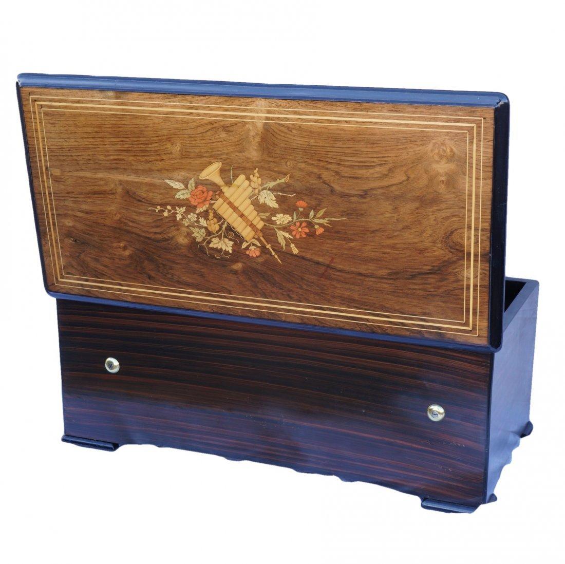 Paillard & Co. Inlaid Wood Cylinder Music Box
