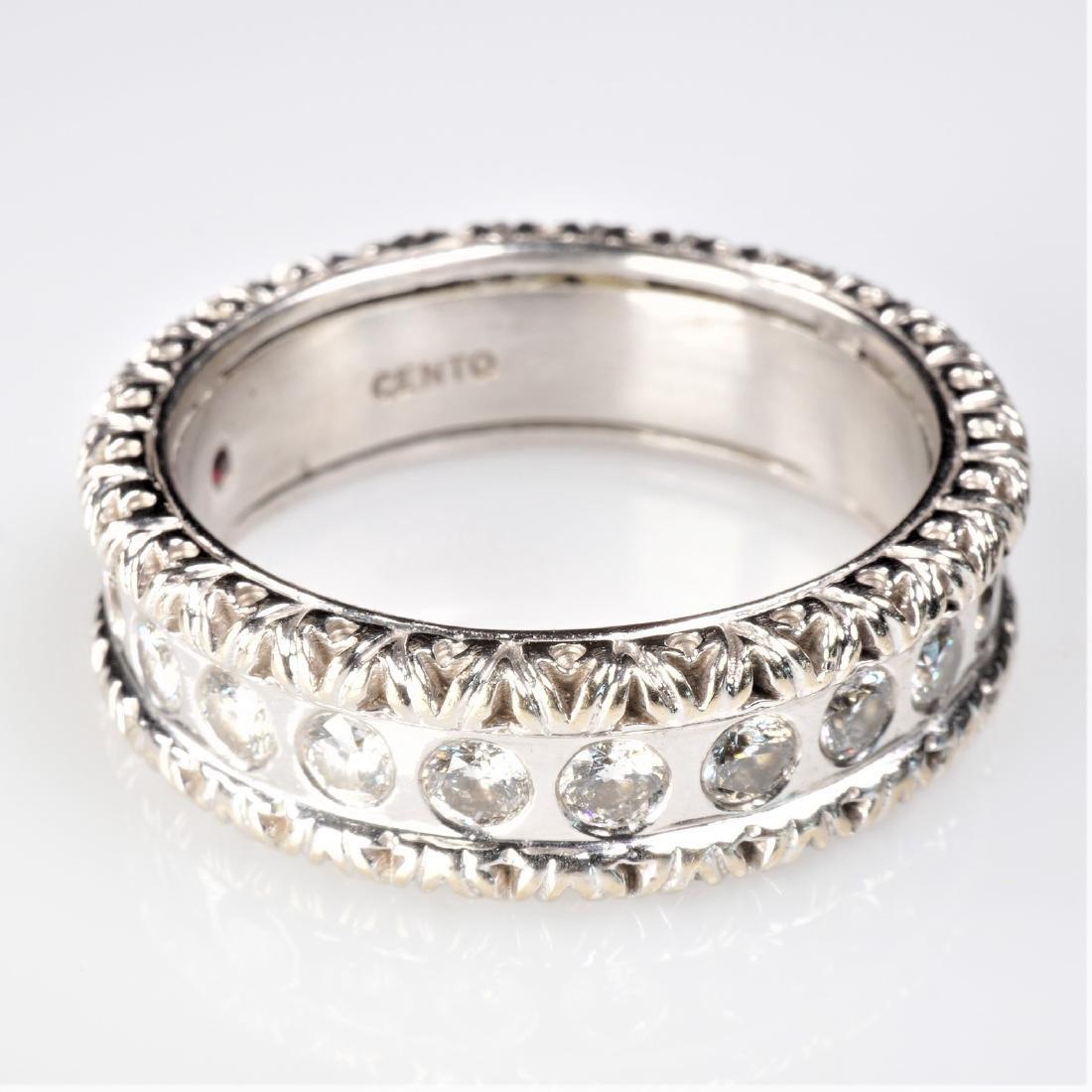 18k WG Roberto Coin Cento Diamond Ring