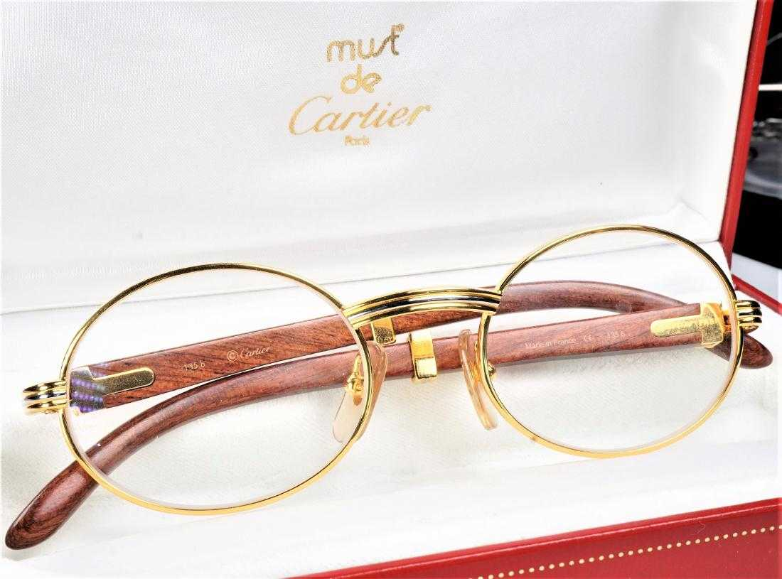 a5ae53bb82 Cartier Giverny Palisander 18k Gold Glasses