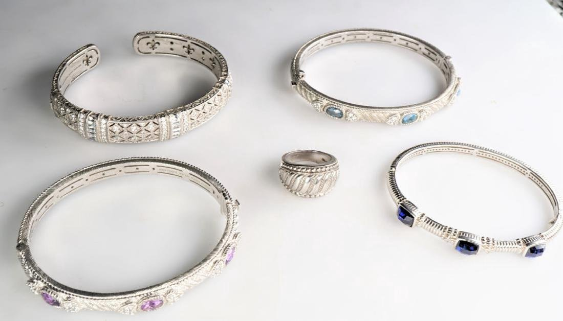 Group of Judith Ripka Sterling Silver
