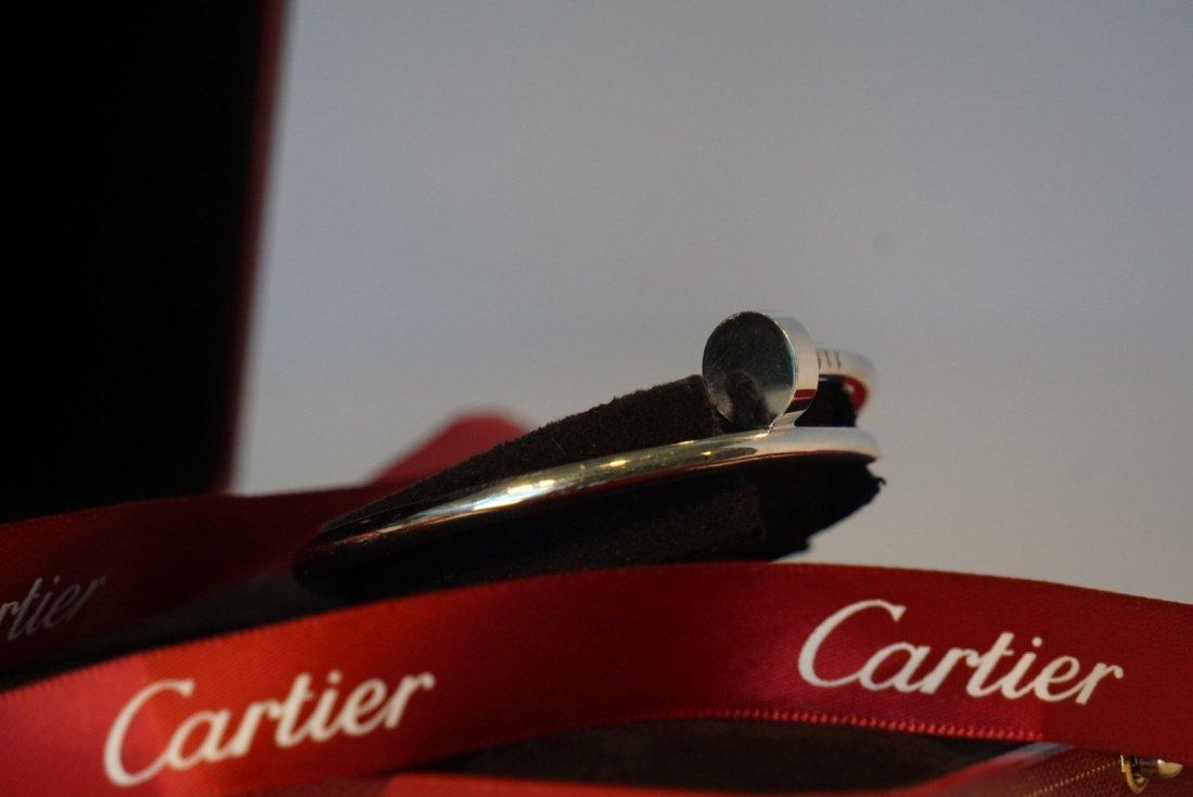 18k White Gold Cartier Nail Juste un Clou Bracelet - 4