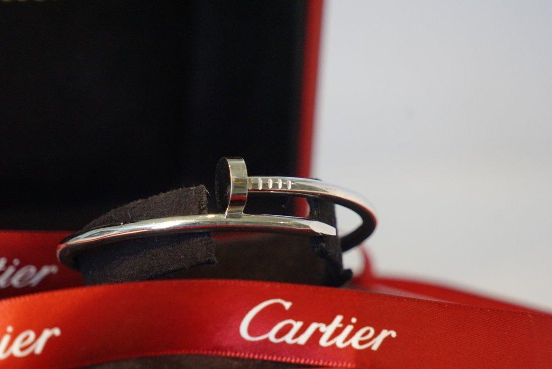 18k White Gold Cartier Nail Juste un Clou Bracelet - 5