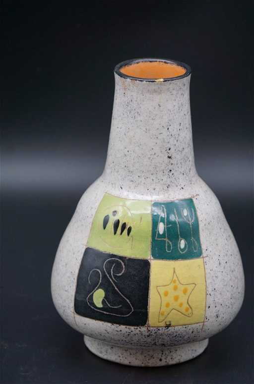 Designer Vase With Markings Underneath