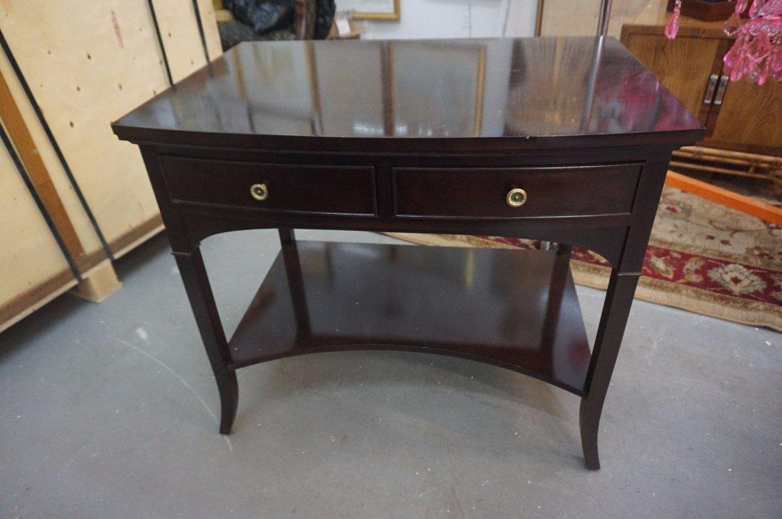 2 Polished Dark wood side tables