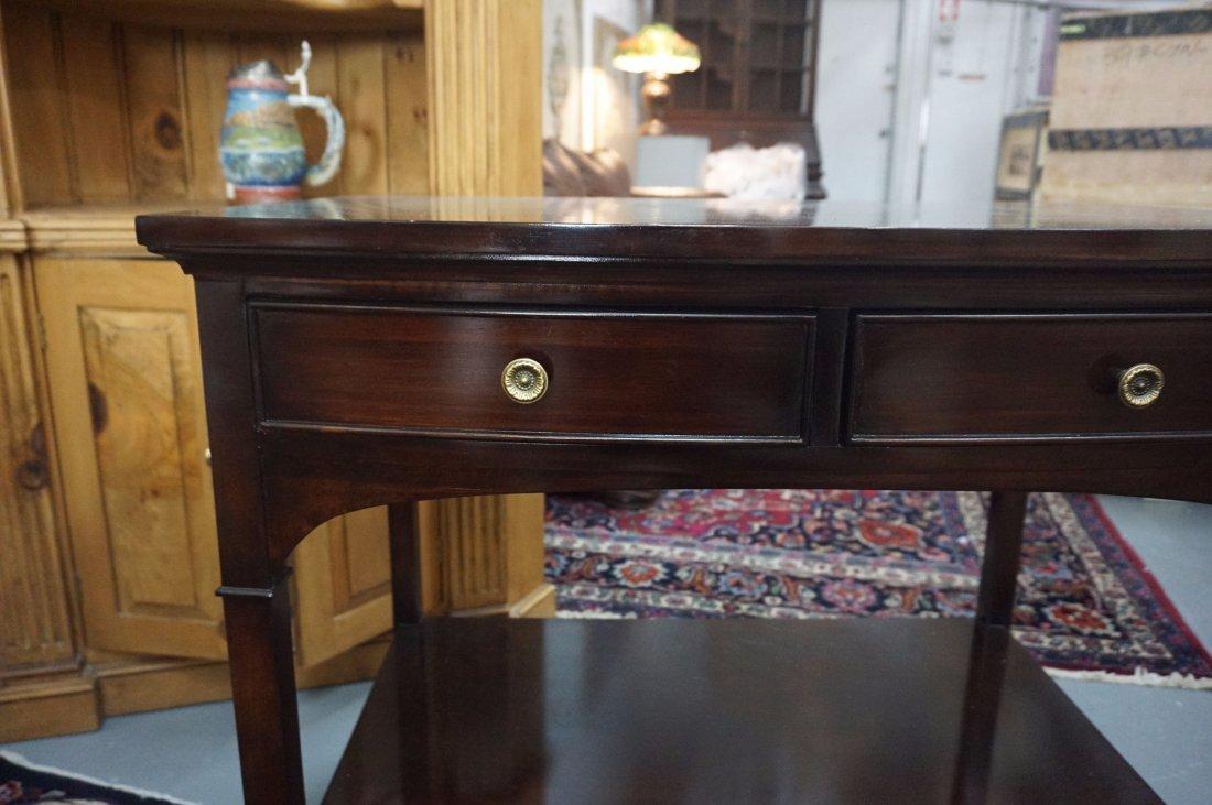 2 Polished Dark wood side tables - 3
