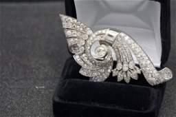 14k and VS diamond Brooch