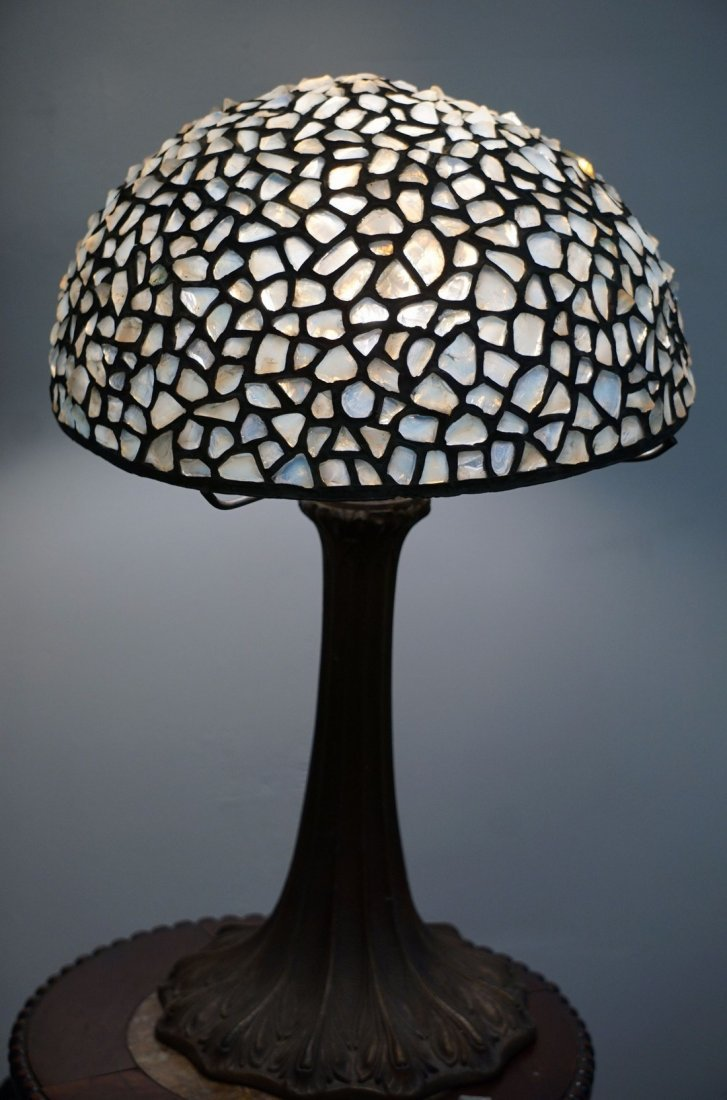 Opalescent Stained Glass Jewel Lamp