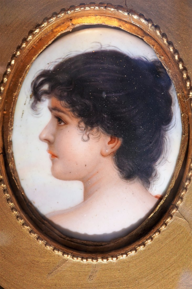 "Gebrôder Heubach, ""Portrait Of A Lady"", Porcelain"