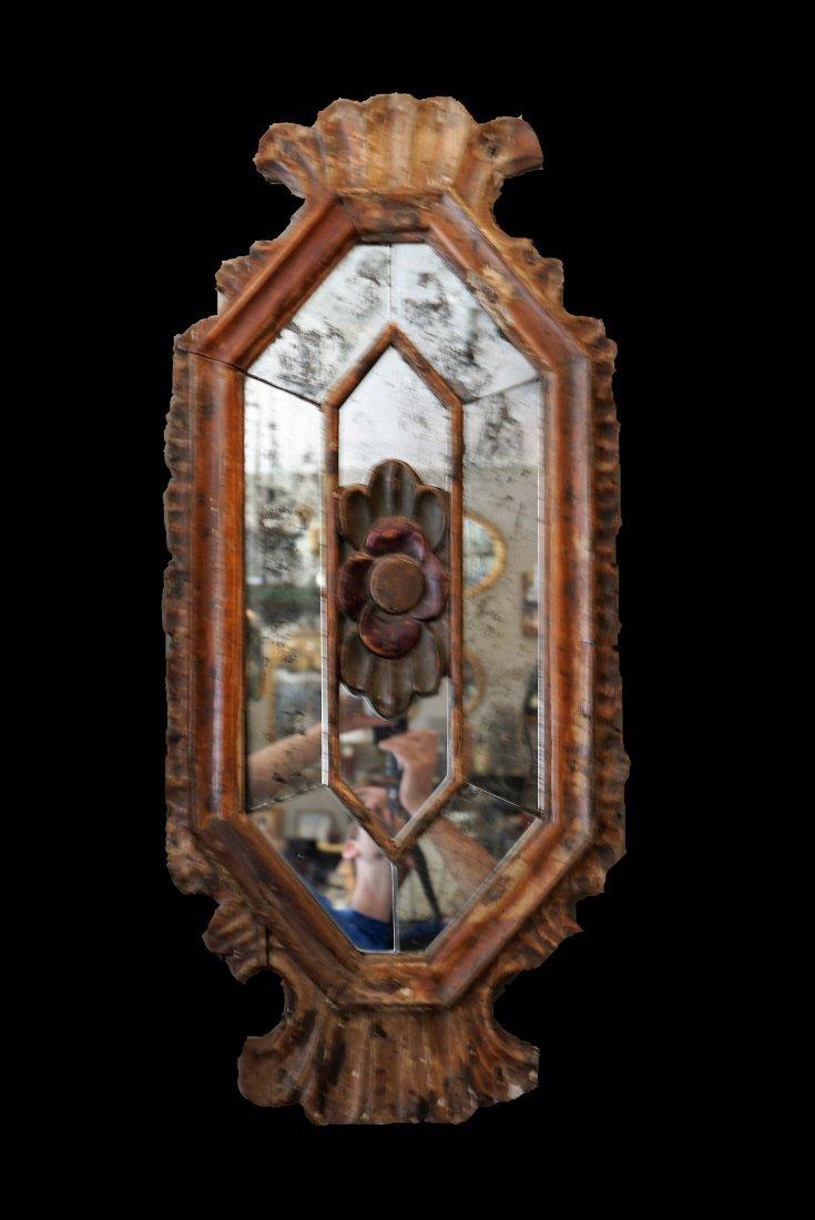 Late 18th/ Early 19th Italian Wood Mirror