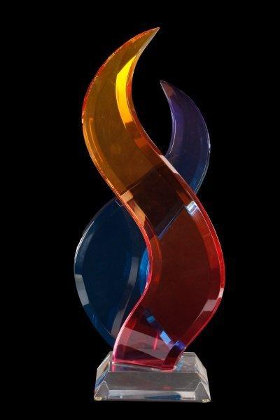 """Intertwining"" Lucite Sculpture Shlomi Haziza"