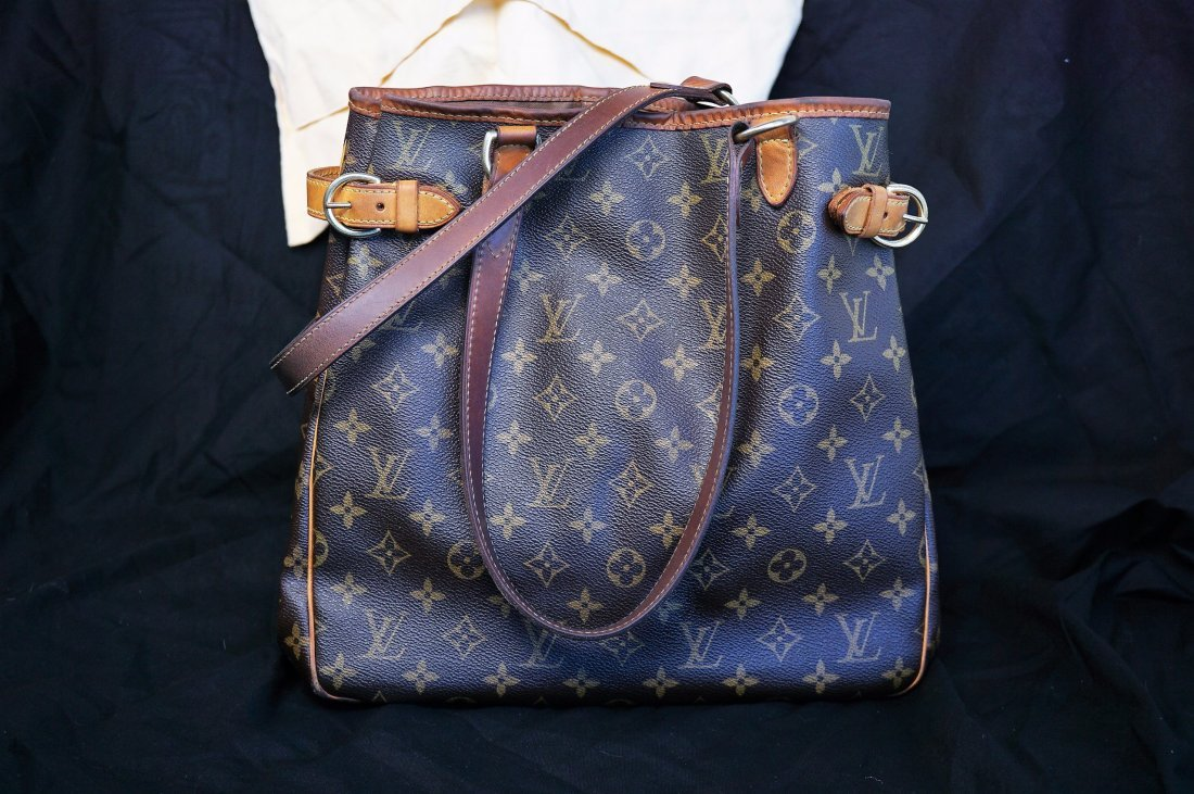 Louis Vuitton Brown and Tan Monogram Print Bag