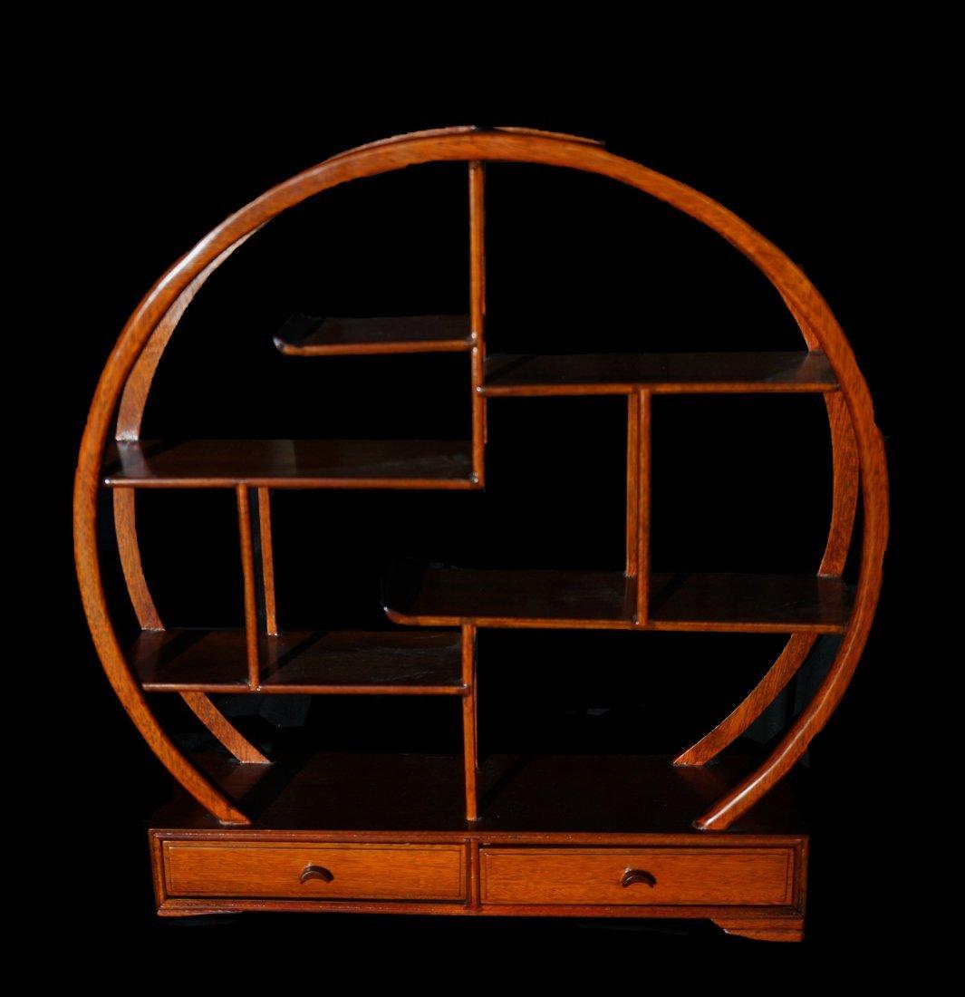 Chinese Rosewood Zen Shelf