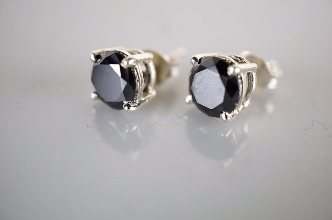 4.06 CTTW Black Diamond Studs