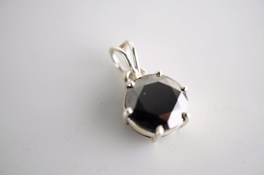 Massive Over 8 Carat Black Diamond Pendant