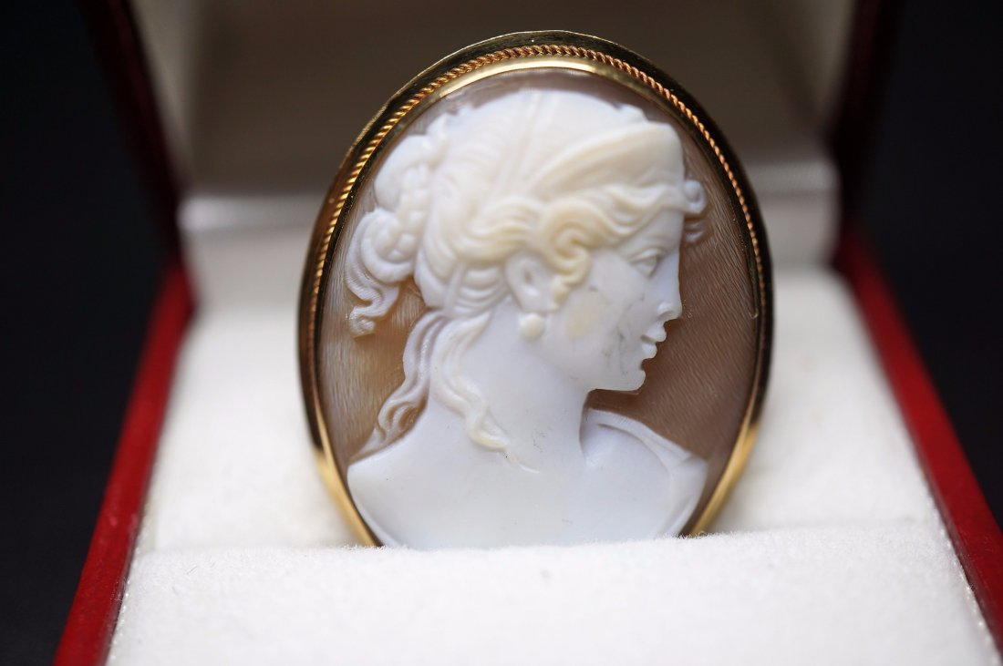Victorian Carved Cameo Brooch