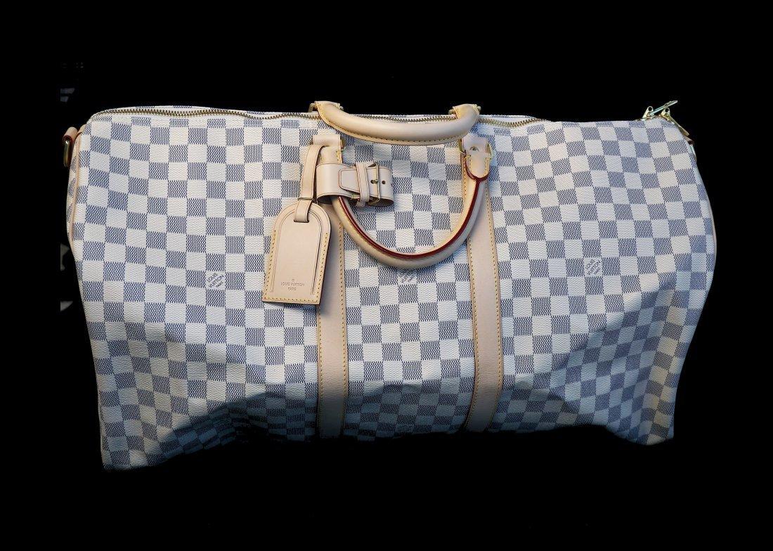 Louis Vuitton Damier Azur Keepall 55