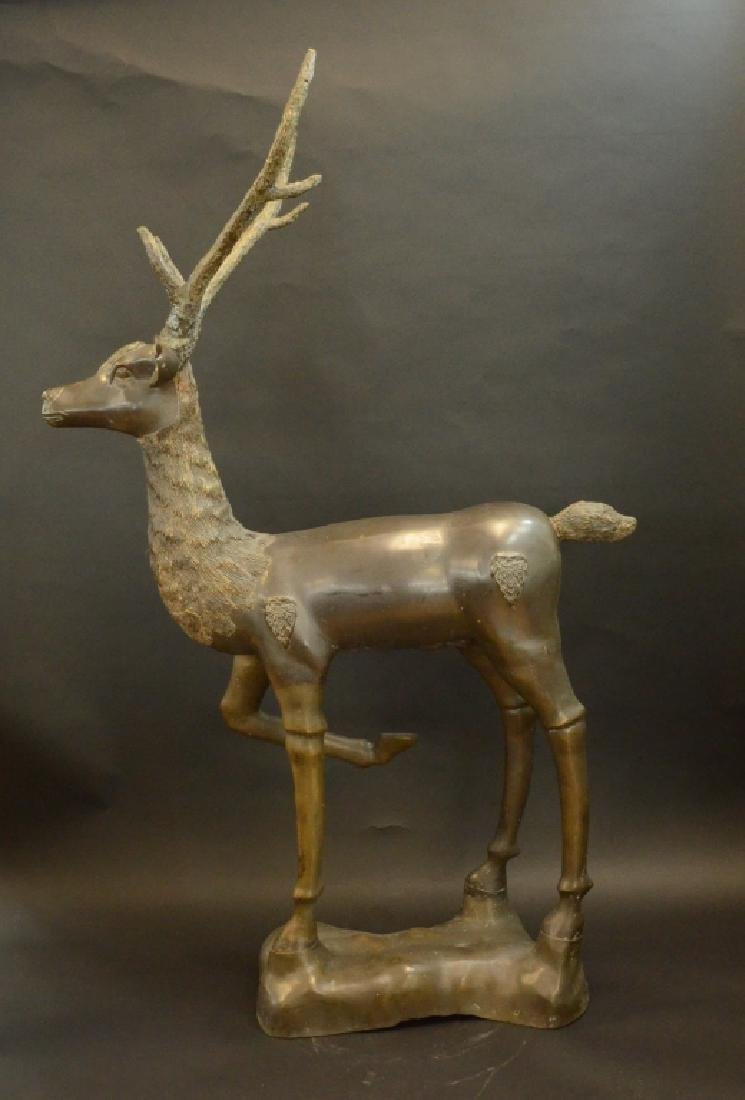 QING STYLE, A BRONZE ORNAMENT OF SIKA DEER