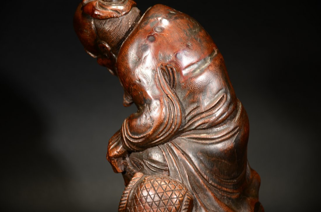 A CARVED BAMBOO ORNAMENT - 5
