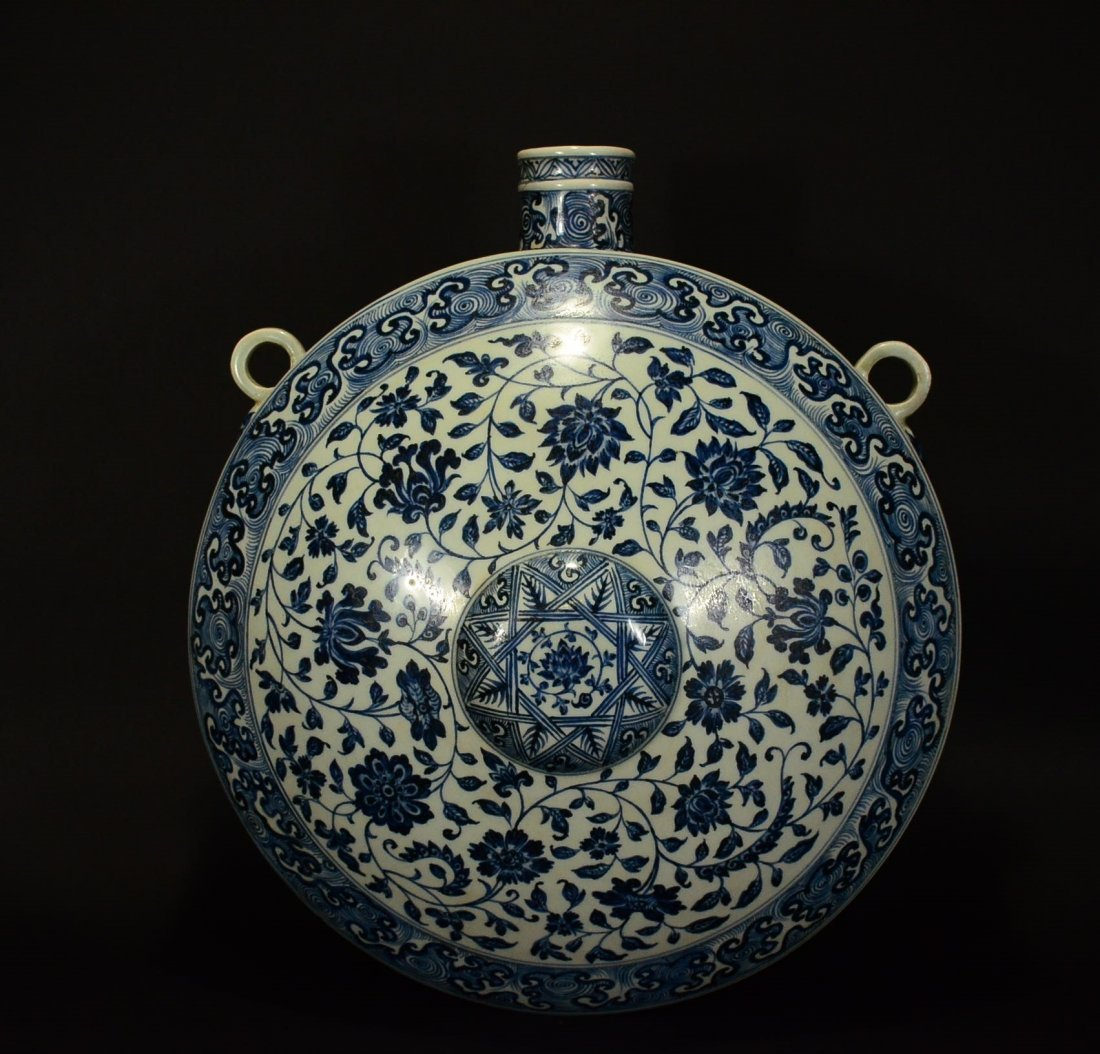 MING OR LATER, A BLUE AND WHITE POT