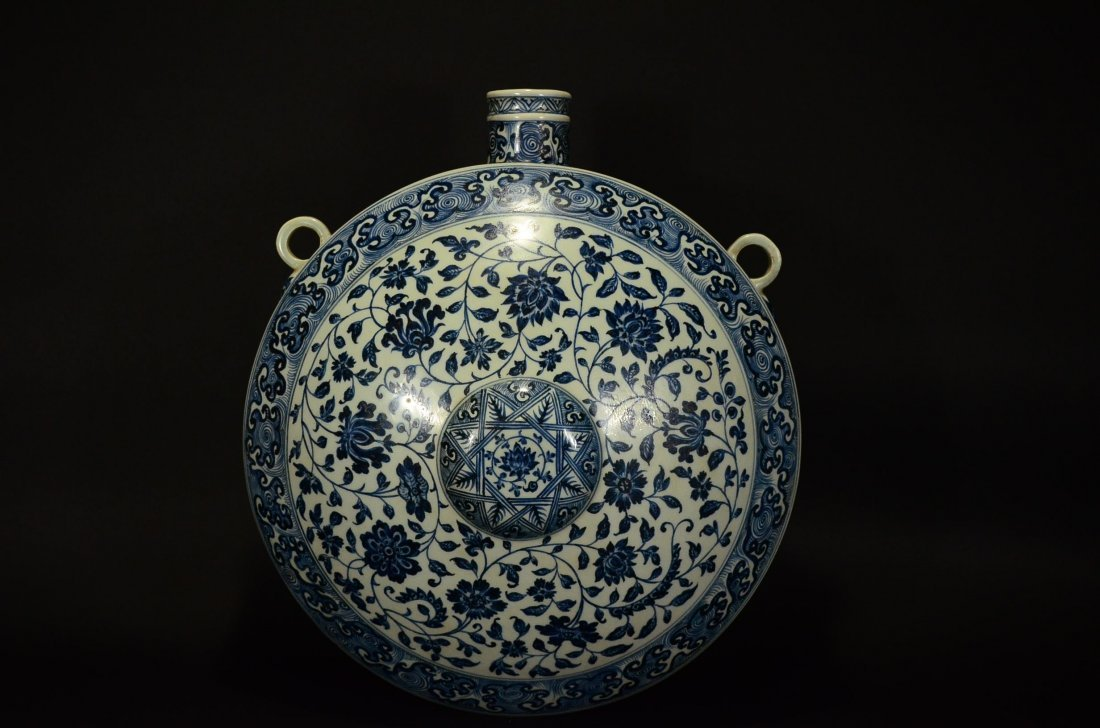 MING OR LATER, A BLUE AND WHITE POT - 2
