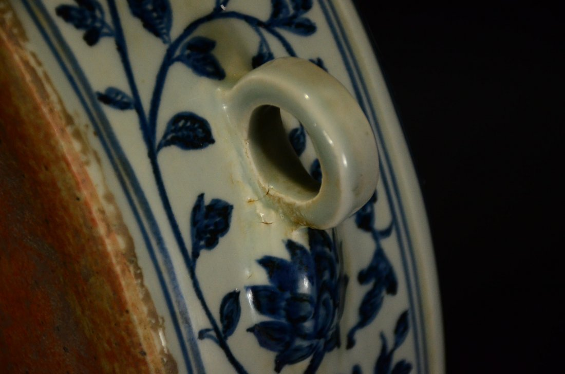 MING OR LATER, A BLUE AND WHITE POT - 5