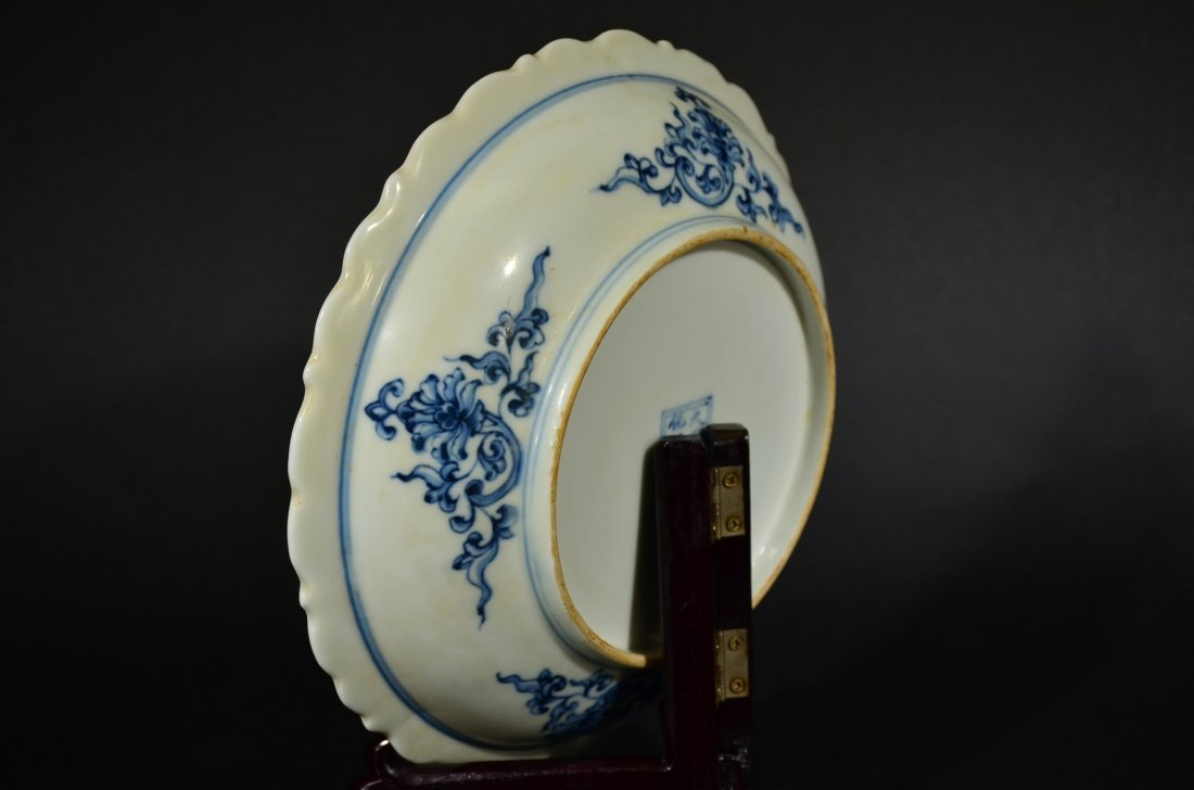 A BLUE AND WHITE DISH - 5