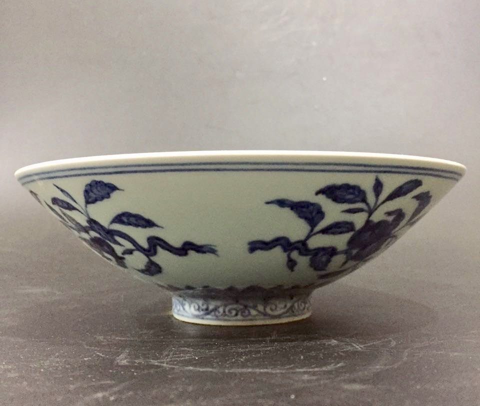 XUANDE MARK, A BLUE AND WHITE BOWL - 2