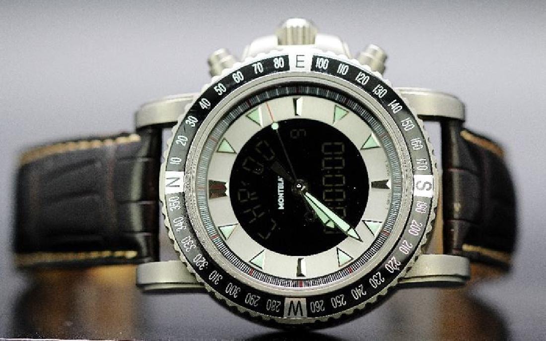 A gents Titanium Montblanc XXL large face 49.5mm 7063
