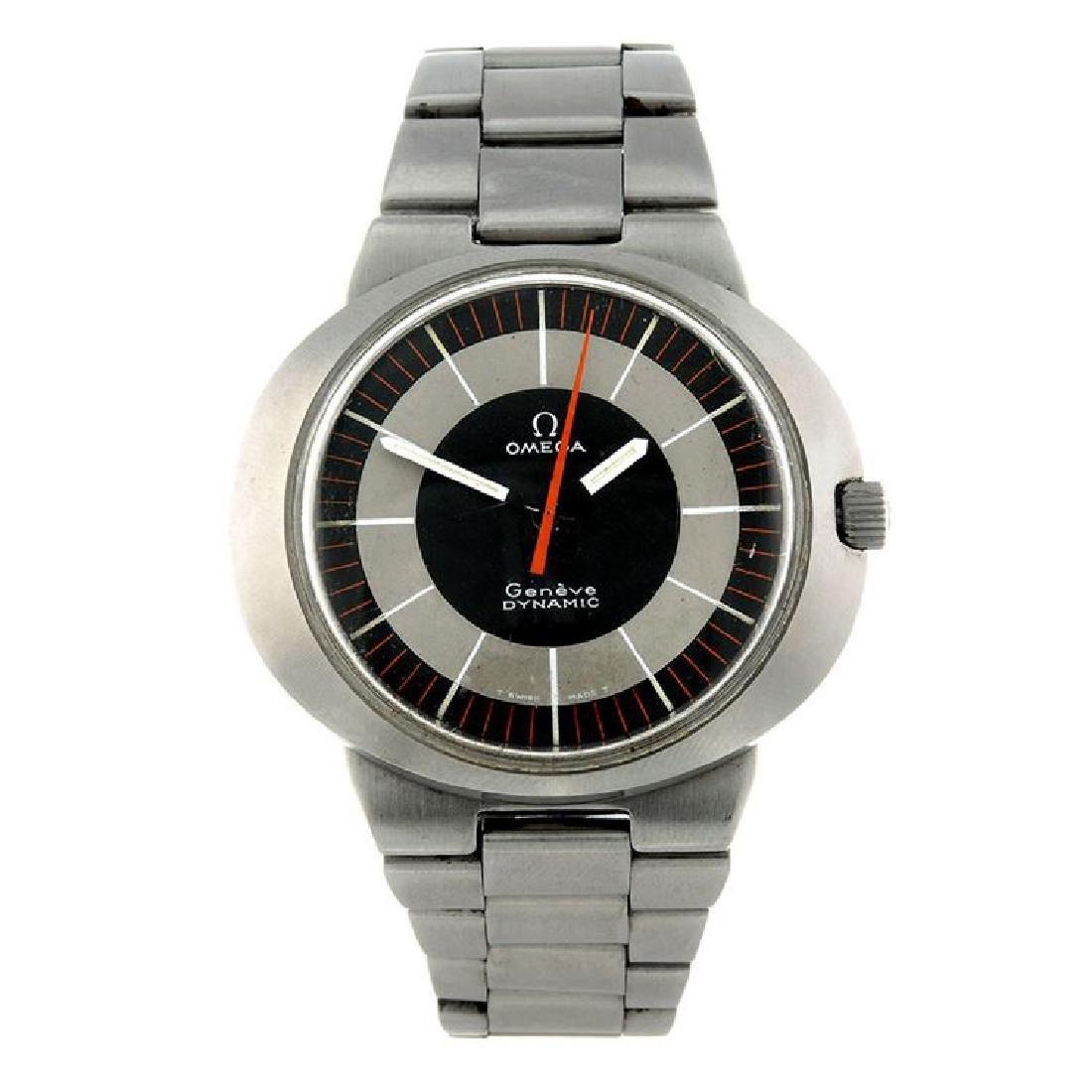A gent's Retro Omega Geneve Dynamic Watch