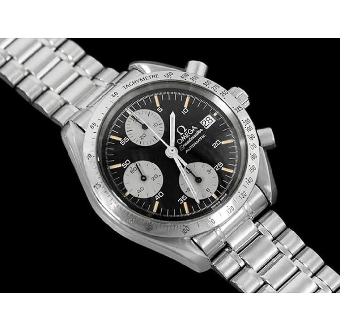 A gent's Omega Speedmaster chronograph bracelet watch.