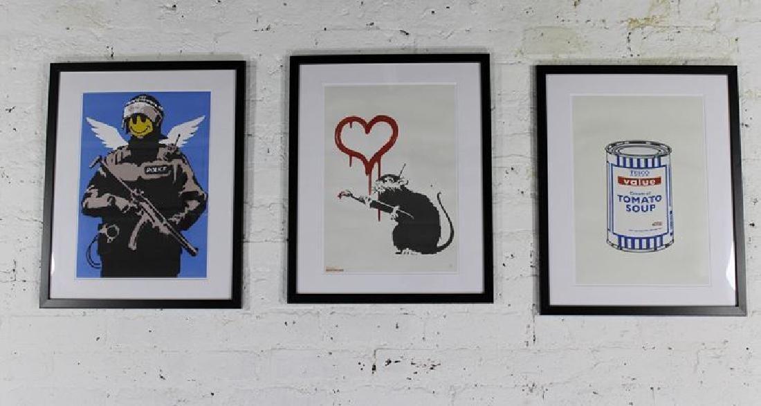 "Banksy Ltd ""Happy Copper"", ""Love Rat"" & ""Value Soup"""