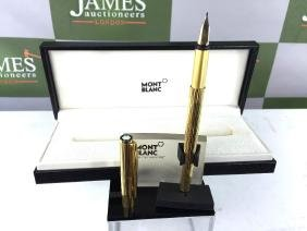 Montblanc gold plated Noblesse edition fountain pen