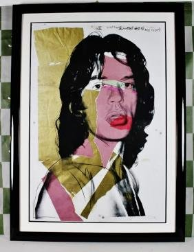 Andy Warhol Plate Signed Mick Jagger Lithograph 1/500